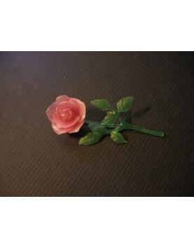 Rosa modelada en cera